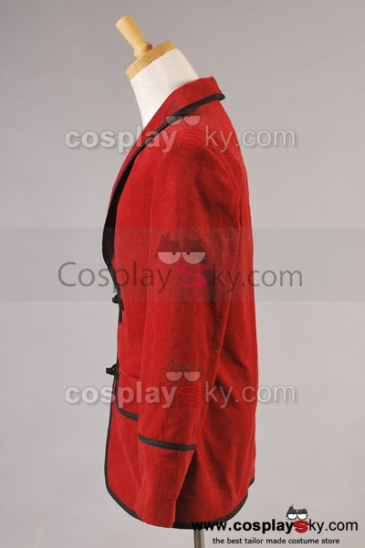 Doctor Who 3e Dr Veste Rouge Cosplay Costume