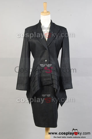 Doctor who Costume Noir Pour Femme Cosplay Costume