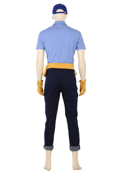 Wreck-It Ralph 2 Ralph 2.0 Fix-it Felix Jr. Cosplay Costume