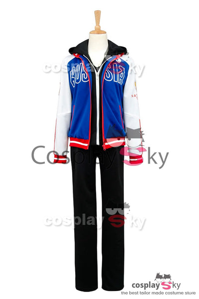 Yuri on Ice Yuri Plisetsky Cosplay Costume+Chaussures+Perruque