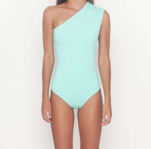 Ki & Co Ruffled One Shoulder Maillot