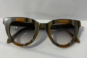 Lamù Sunglasses - Cat Pen brown stripes