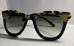 Lamù Sunglasses - Elle White Tortoise / Black