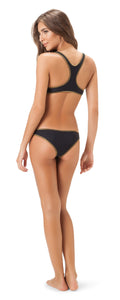 Salinas Black and Gold bikini Bottom