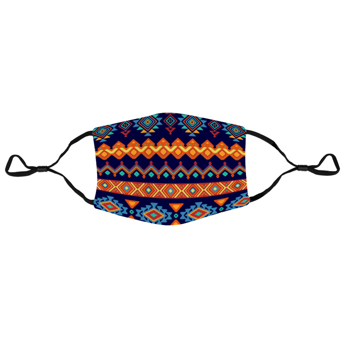 Washable Adult Face Mask Dust Mask with Filter Element - Tribal