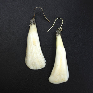 Earrings | Bison Teeth | Silver