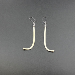 Earrings | Racoon Penis | Silver