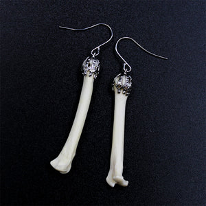 Earrings | Coyote Phalanges | Silver | Large
