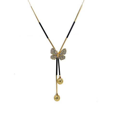 OyeTrend Gorgeous Gold Tone Butterfly Fashion Pendant