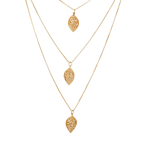 OyeTrend Elegant And Classy 3 Layer Gold Tone Chain Pendants