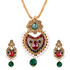 OyeTrend Multi Color Stone Studded Traditional Pendant Set