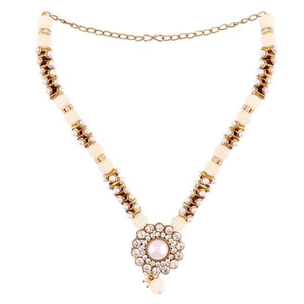 OyeTrend Pearl Embellished Elegant Pendant Set For Women