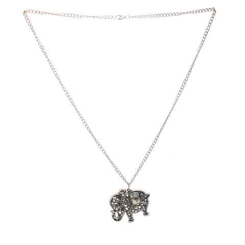 OyeTrend Silver Elephant Design Alloy Fashion Pendant