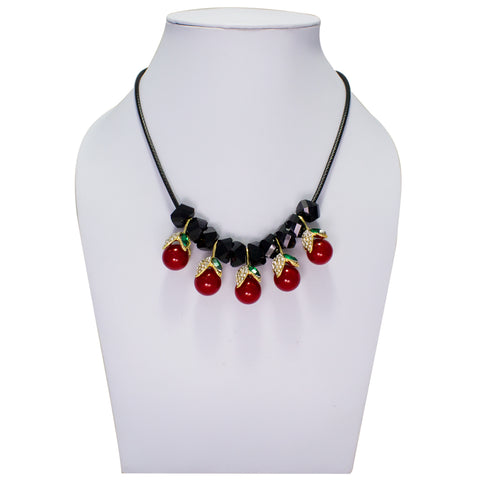OyeTrend Dangling Cherry Fashion Necklace For Women