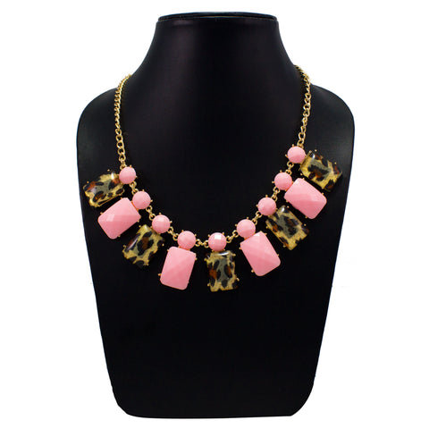 OyeTrend Trendy Necklace With Pink Stones