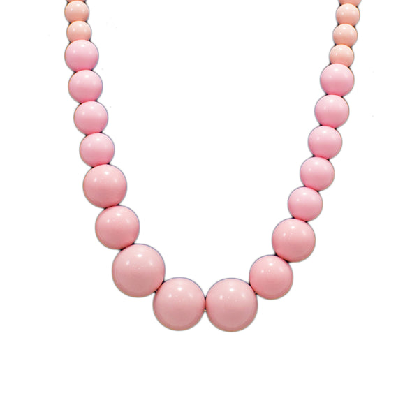 OyeTrend Pink Color Round Beads Necklace