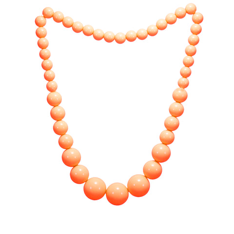 OyeTrend Orange Round Beads Necklace