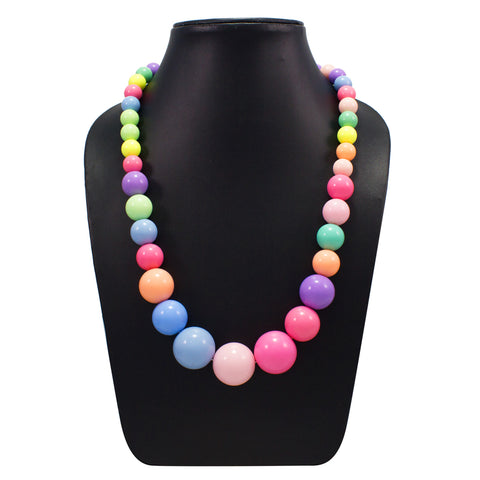 OyeTrend Multi Color Round Beads Necklace
