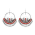 OyeTrend Designer Peacock Round Earring With Red Meena Work
