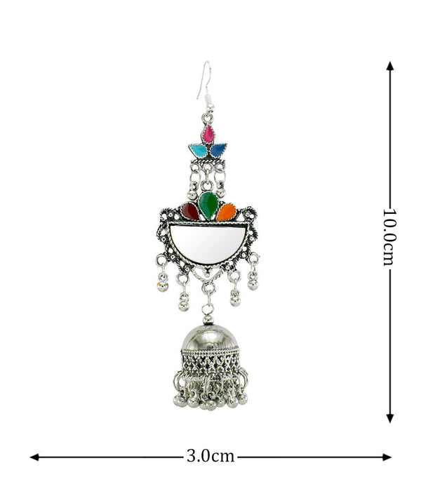 Oyetrend Multicolor Meena Earring With Dangling Jhumka