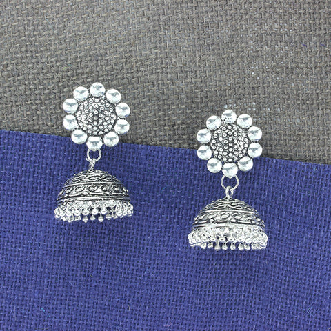 OyeTrend Gorgeous Jhumki In German Silver Metal