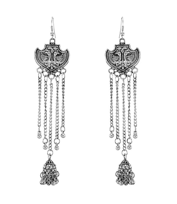 OyeTrend Peacock Design Earring With Long Chain