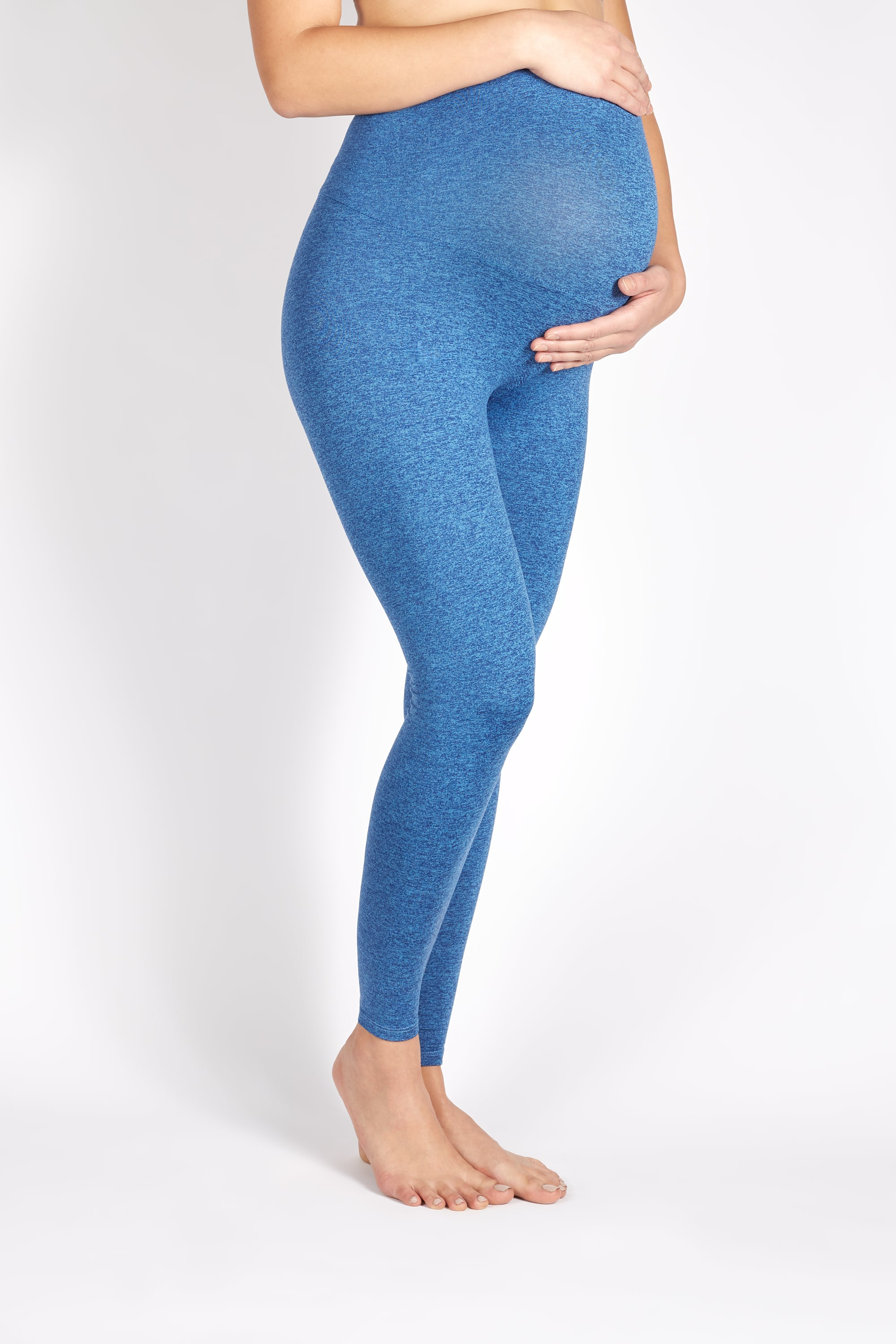 PORTER MATERNITY OVER BELLY HEATHERED LEGGING