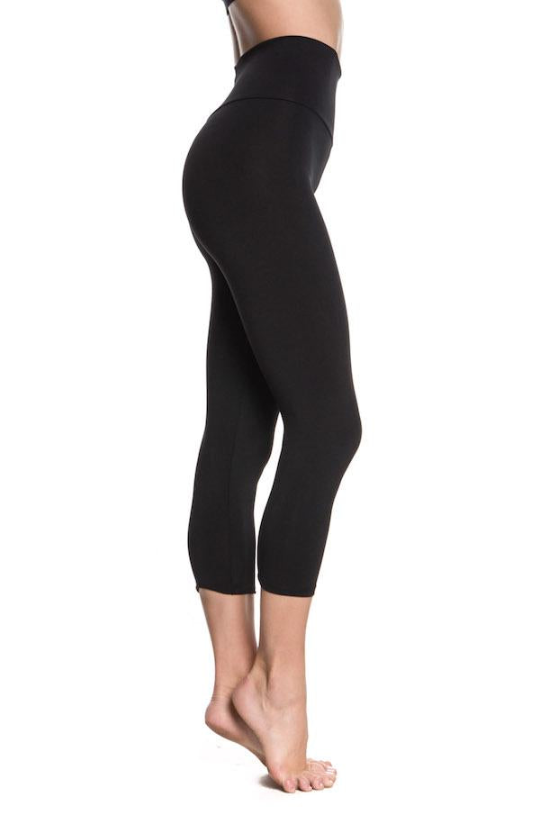 ABBY CROPPED HIGH WAISTED BASIC LEGGING