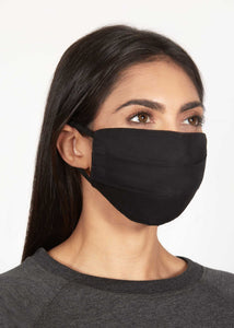 Solid Black Woven Mask