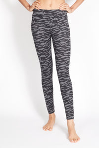 PITA HIGH RISE BASIC LEGGING ZEBRA BLACK