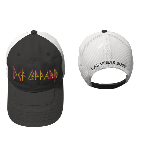Def Leppard Las Vegas 2019 Ornate Black Hat