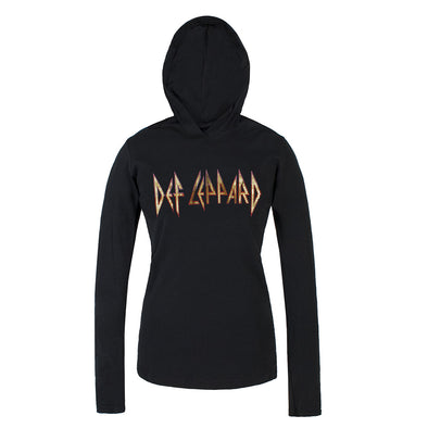 Classic Logo Ladies Jersey Pullover Hoodie-Def Leppard