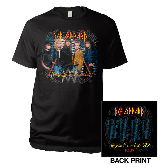 Vintage '87 Hysteria Tour Tee-Def Leppard