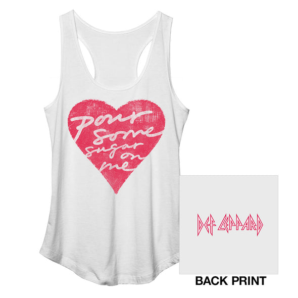 Pour Some Sugar On Me Racerback Ladies Tank-Def Leppard