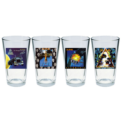 Album Art Four Piece Pint Glass Set-Def Leppard