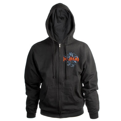 Self-Titled Album Embroidered Zip Hoodie-Def Leppard
