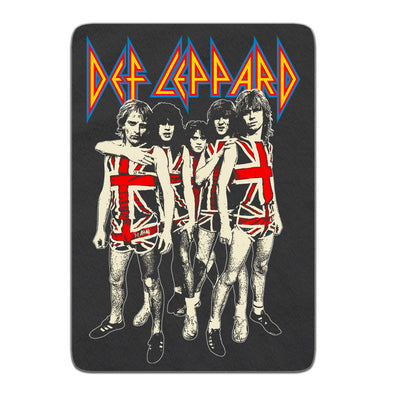 Band Photo Fleece Blanket-Def Leppard