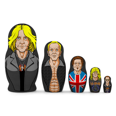 Caricature Nesting Dolls-Def Leppard