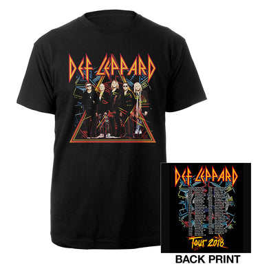 NA Tour 2018 Photo Tee-Def Leppard