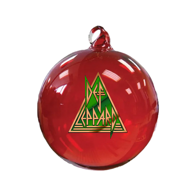 Def Leppard Glass Globe Ornament