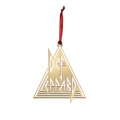 Def Leppard Gold Ornament