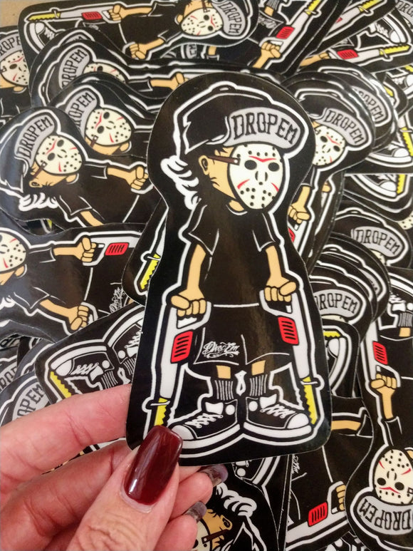 EXCLUSIVE 2x4 HALLOWEEN HOCKEY DUDE STICKER