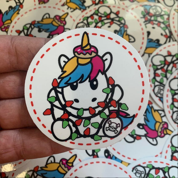 SPRINKLES WITH HOLIDAY LIGHTS STICKER