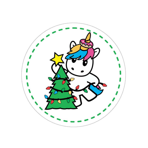 SPRINKLES THE UNICORN WITH TREE HAT PIN (#53)