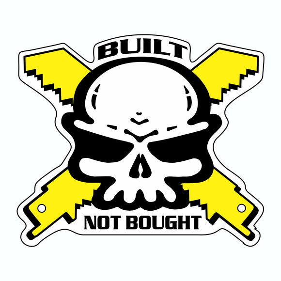 3X3 BUILT NOT BOUGHT STICKER
