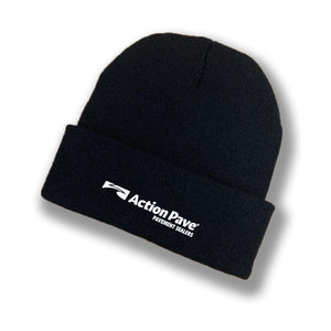 ACTION PAVE BLACK BRIMMED BEANIE