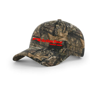 ACTION PAVE MOSSY OAK CAMO SNAP BACK RED STITCH (CURVED BILL)