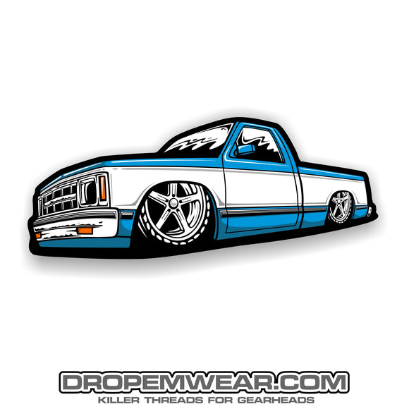 2X5 BLUE REGULAR CAB SQUARE BODY S10
