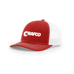 CRAFCO RED/WHITE TRUCKER SNAP BACK (CURVED BILL)