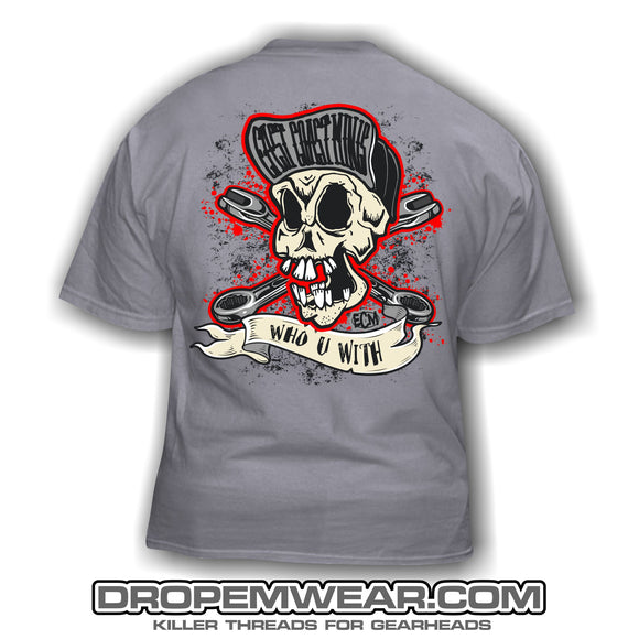 EAST COAST MINIS SKULL T-SHIRT CHARCOAL